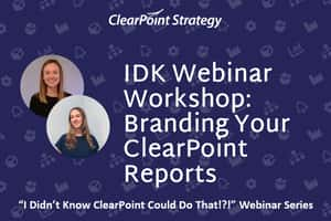 Branding Your ClearPoint Reports