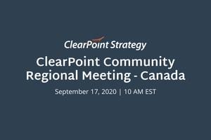 ClearPoint Community: Canada Regional Meeting