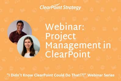 Project Management in ClearPoint