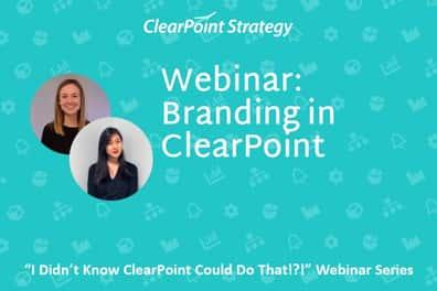Branding in ClearPoint