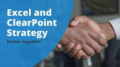Excel and ClearPoint Strategy
