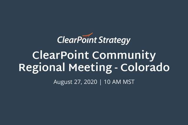 ClearPoint Community Colorado Regional Meeting:  A Recap