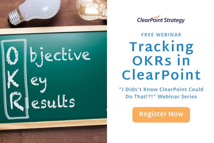Tracking OKRs in ClearPoint