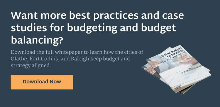 Local Government Budgeting: Linking Your Budget and Strategy