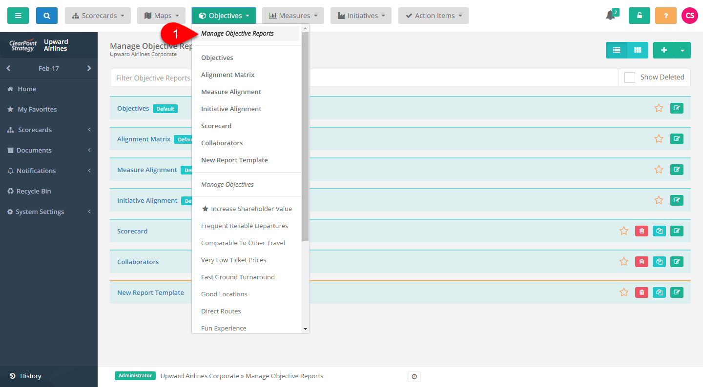 Adding Summary Reports From Templates Clearpoint Support Center