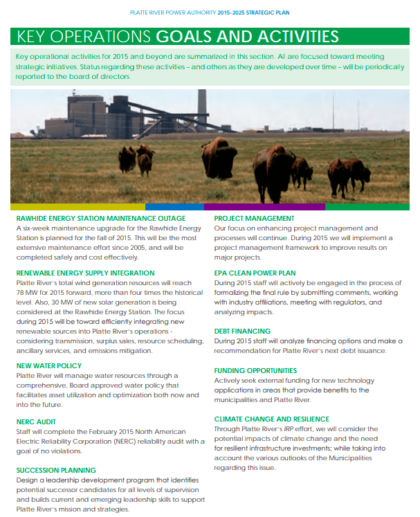 Platte River Power Authority Strategic Plan