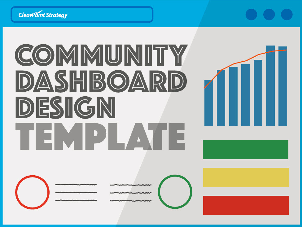 community dashboard design template with graph and status