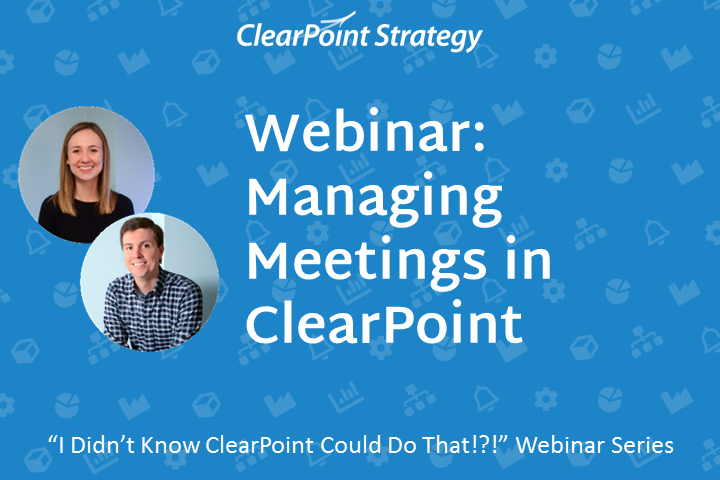 Managing Meetings in ClearPoint