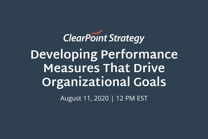 Virtual Event: Developing Performance Measures that Drive Organizational Goals