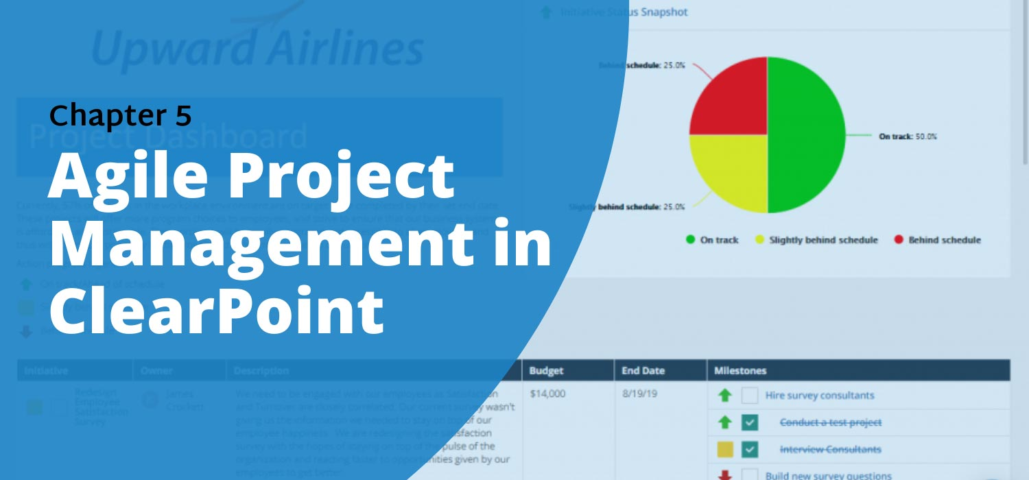 Chapter 5: Agile Project Management In ClearPoint