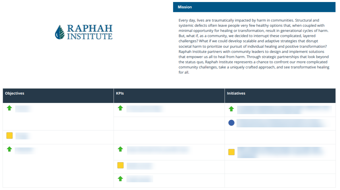 Raphah Institute Mission Page in ClearPoint