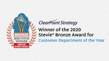 Clearpoint Strategy Honored As Bronze Stevie® Award Winner In 2020 American Business Awards®