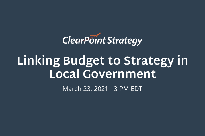 Virtual Event: Linking Budget to Strategy in Local Government